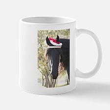 Christmas Santa Friesian Horse Mug