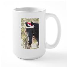Christmas Santa is a Friesian Horse Mug