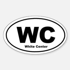 White Center Oval Decal