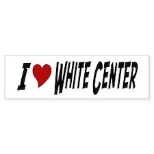 White Center Bumper Bumper Sticker