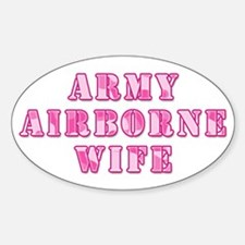 Army Airborne Wife Pink Camo Oval Decal