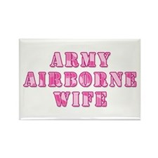 Army Airborne Wife Pink Camo Rectangle Magnet