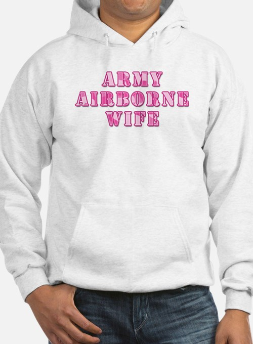 Army Airborne Wife Pink Camo Hoodie