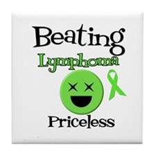 Beating Lymphoma Tile Coaster