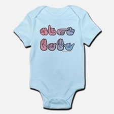 PinkBlue SIGN BABY SQ Infant Bodysuit