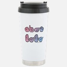 PinkBlue SIGN BABY SQ Stainless Steel Travel Mug