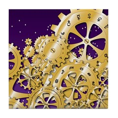 Year's Gears Tile Coaster