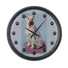 Shar-pei Large Wall Clock