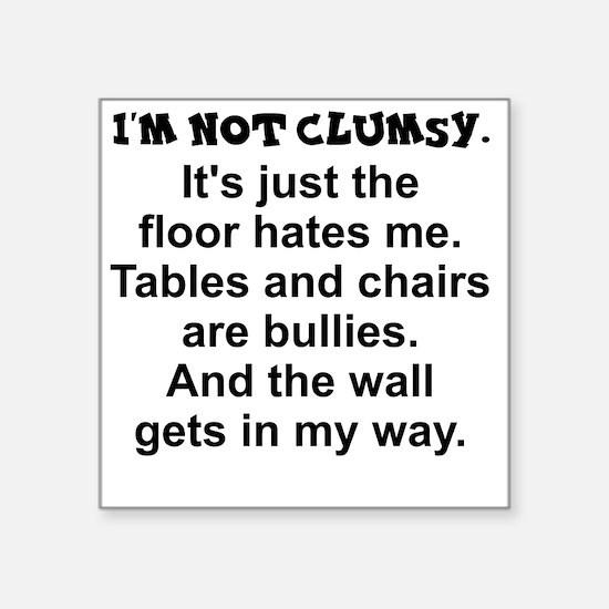 "Cute Clumsy Square Sticker 3"" x 3"""