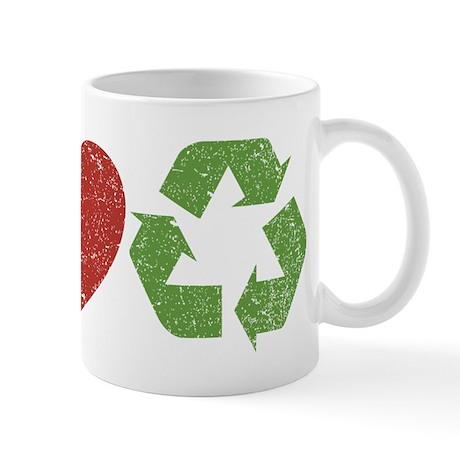 Peace, Love, Recycle Mug