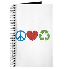 Peace, Love, Recycle Journal