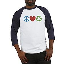 Peace, Love, Recycle Baseball Jersey