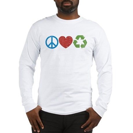 Peace, Love, Recycle Long Sleeve T-Shirt