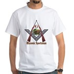 Masonic Sportsman Hunting White T-Shirt