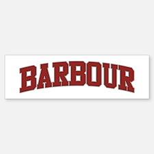 BARBOUR Design Bumper Bumper Bumper Sticker
