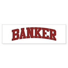 BANKER Design Bumper Car Sticker