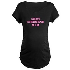 Army Airborne Mom Pink Camo T-Shirt