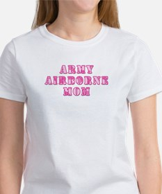 Army Airborne Mom Pink Camo Women's T-Shirt