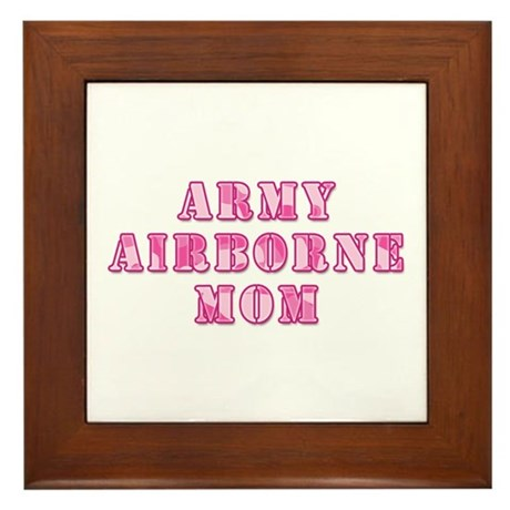 Army Airborne Mom Pink Camo Framed Tile