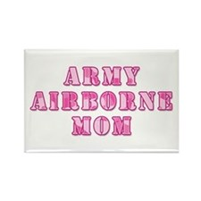 Army Airborne Mom Pink Camo Rectangle Magnet