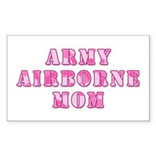 Army Airborne Mom Pink Camo Rectangle Decal