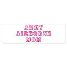 Army Airborne Mom Pink Camo Bumper Bumper Sticker