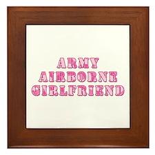 Airborne Girlfriend Framed Tile