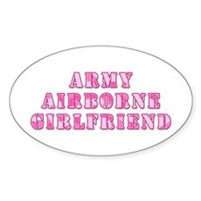 Airborne Girlfriend Oval Decal