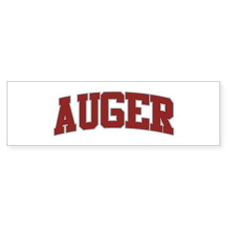 AUGER Design Bumper Sticker
