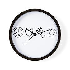 P.L.HandDrums.H. Wall Clock