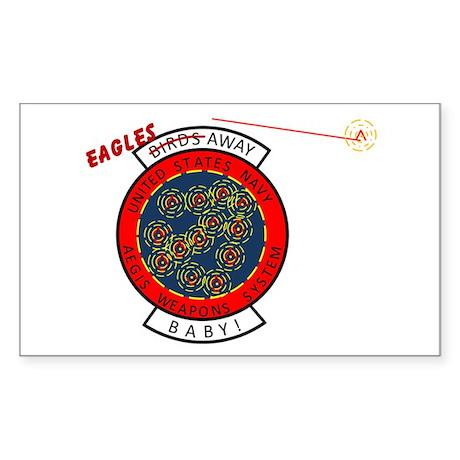 AEGIS BMD Rectangle Sticker