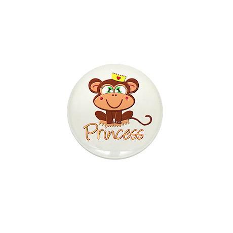 Princess Monkey Mini Button