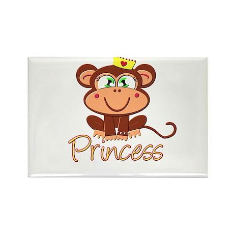 Princess Monkey Rectangle Magnet