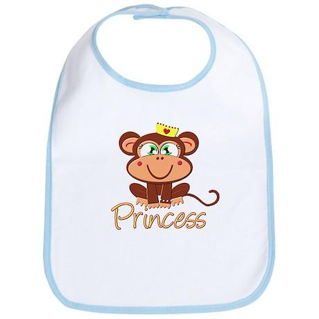 Princess Monkey Bib