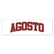 AGOSTO Design Bumper Bumper Sticker