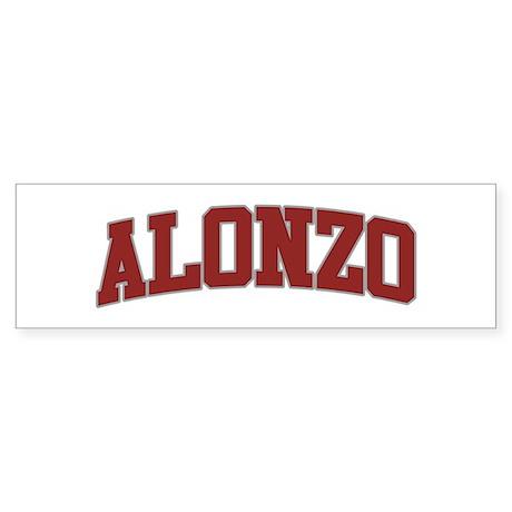 ALONZO Design Bumper Sticker