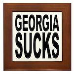 Georgia Sucks Framed Tile