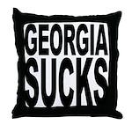 Georgia Sucks Throw Pillow