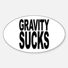 Gravity Sucks Oval Decal