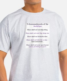 Anti-Chav Commandments Ash Grey T-Shirt