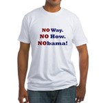 No Way. No How. NObama! Fitted T-Shirt