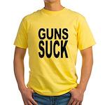 Guns Suck Yellow T-Shirt