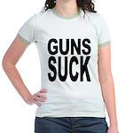 Guns Suck Jr. Ringer T-Shirt