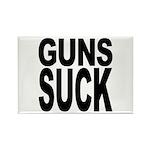 Guns Suck Rectangle Magnet (100 pack)