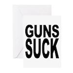 Guns Suck Greeting Cards (Pk of 10)