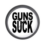 Guns Suck Wall Clock