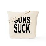 Guns Suck Tote Bag