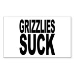 Grizzlies Suck Rectangle Sticker