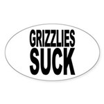 Grizzlies Suck Oval Sticker (10 pk)