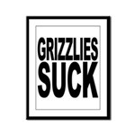 Grizzlies Suck Framed Panel Print